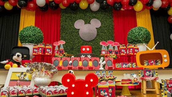 decoración de cumpleaños de Mickey