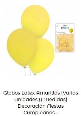 decoración cumpleaños Mickey globos amarillos