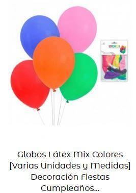 decoración cumpleaños Mickey globos multicolor