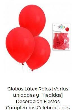 decoración cumpleaños Mickey globos rojos