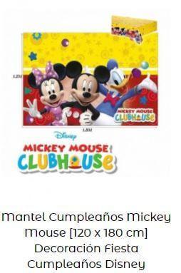 decoración cumpleaños Mickey mantel