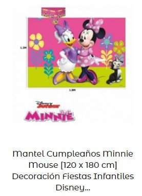 decoración cumpleaños Mickey Minnie mantel