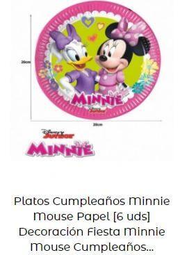decoración cumpleaños Mickey Minnie mantel platos