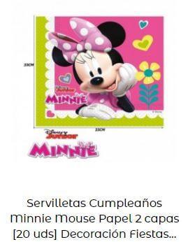 decoración cumpleaños Minnie servilletas