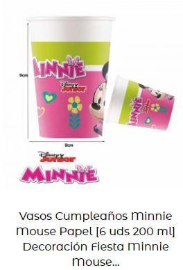 decoración cumpleaños Mickey Minnie vasos