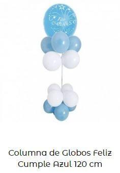 decoración Mickey baby globos azul columna