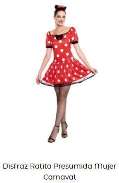 disfraz Minnie Mouse fiesta cumpleaños mujer