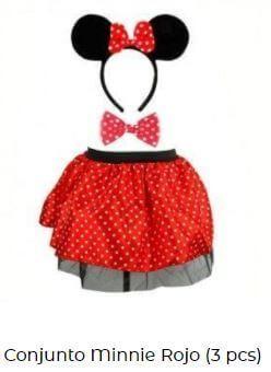 disfraz Minnie Mouse fiesta cumpleaños piezas mujer