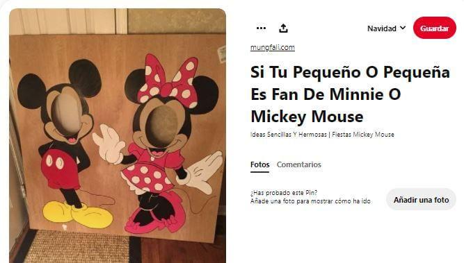 Photocall decoración cumpleaños Mickey