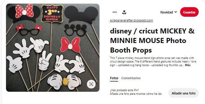 Photocall props decoración cumpleaños Mickey