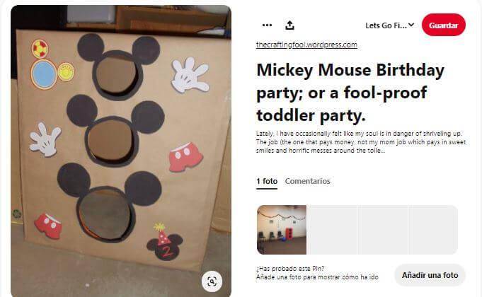 Photocall triple decoración cumpleaños Mickey