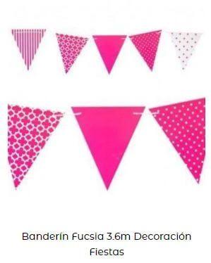 banderines decoración Candy bar low cost