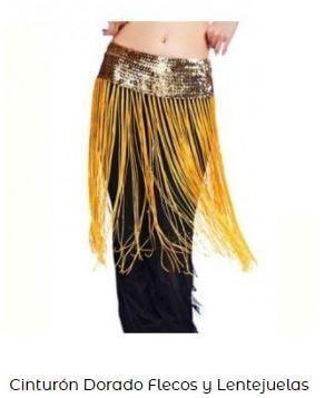 cinturones danza del vientre dorado
