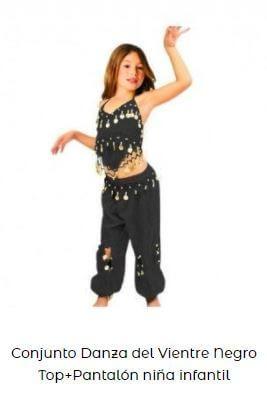 conjunto disfraz danza del vientre niña ensayo