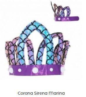 corona disfraz sirena