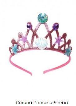 corona diadema disfraz de sirena