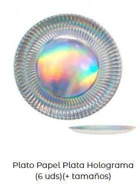 decoración cumpleaños sirenas mesa platos plata