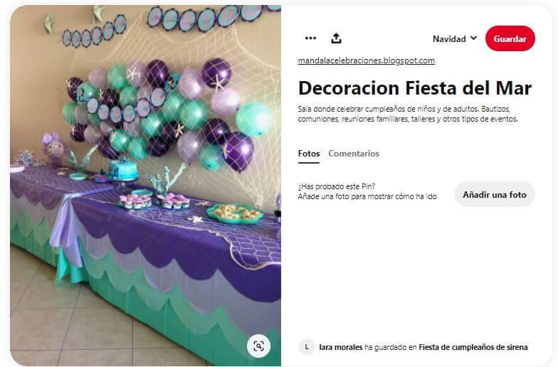 decoración cumpleaños fiesta sirenas