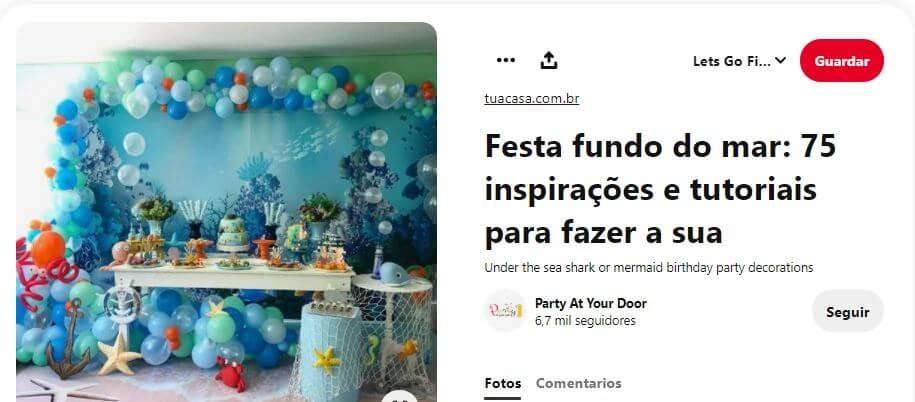 decoración globos fiesta temática sirenas