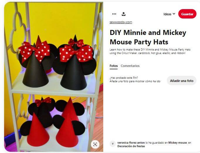 gorros Minnie Mickey Mouse fiesta cumpleaños