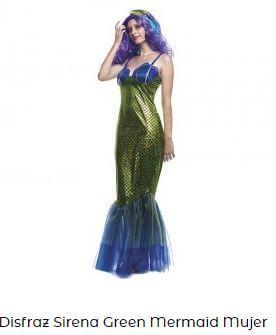 disfraz de sirena mujer verde