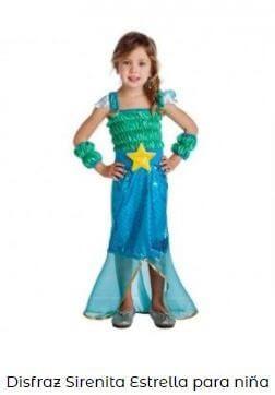 disfraz sirena de niña la sirenita