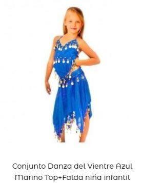 falda y top danza oriental niña