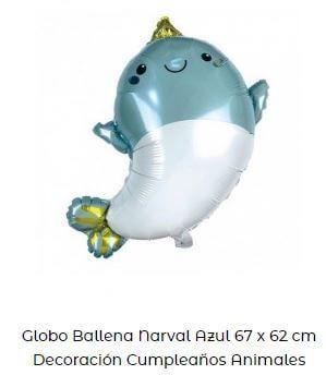 fiesta temática de sirenas globos delfín