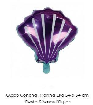 fiesta temática de sirenas globos concha