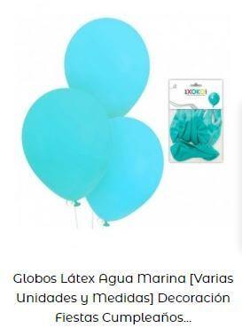 fiesta temática de sirenas globos azul aguamarina