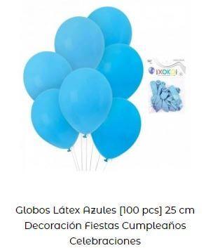 fiesta temática de sirenas globos azules mar