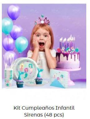 fiesta temática de sirenas kit cumpleaños