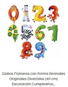 globos Candy bar números animales