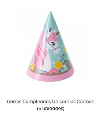 gorros regalos mesa dulce unicornios cumpleaños