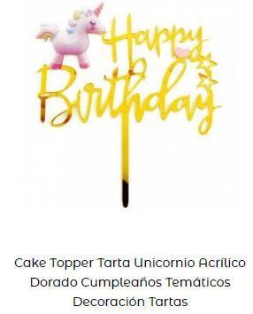 ideas toppers tarta Candy bar cumpleaños