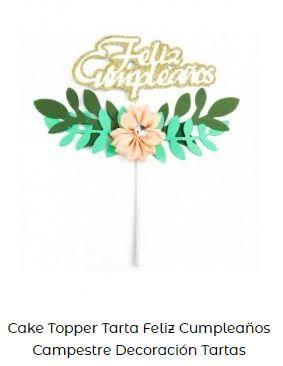 ideas toppers tarta Candy bar cumpleaños tropical