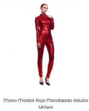 maillot cuerpo entero metalizado mujer danza