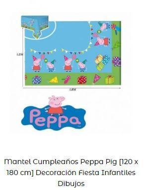 mantel Candy bar económico y fácil peppa pig