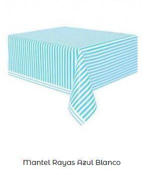 mantel azul Candy bar económico y fácil