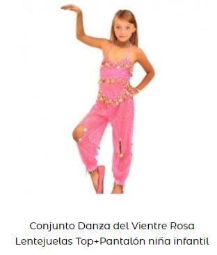 pantalón top disfraz danza del vientre niña ensayo