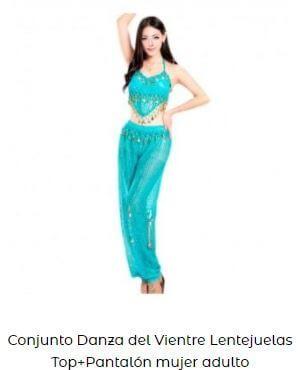 pantalón top danza oriental mujer