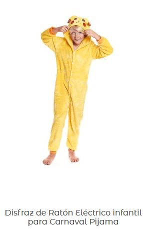 disfraz pikachu infantil niño