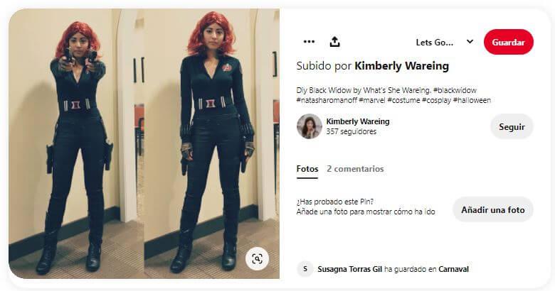 cómo hacer disfraz de black widow para mujer