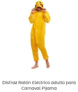 disfraz pikachu adulto