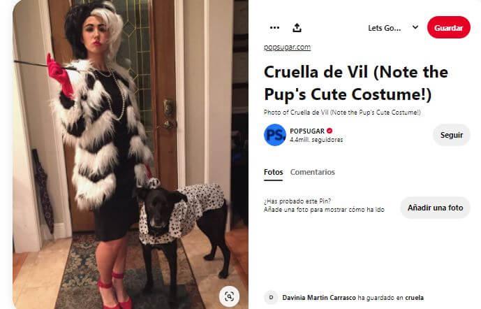 disfraz casero de cruella de vil de mujer