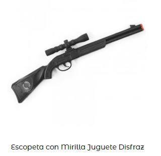 francotirador escopeta disfraz viuda negra