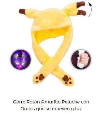 gorro personaje videojuegos pikachu