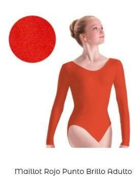 maillot brillo danza mujer liso