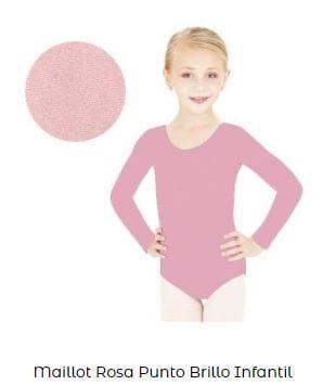 maillot brillo danza niña liso