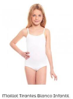 maillot danza clásica niña tirante fino